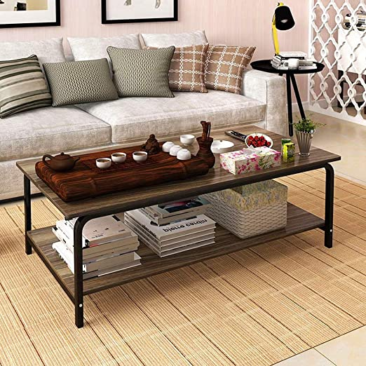 Ketteb Mesa de café moderna para el hogar, mesa de cóctel de 2 ...