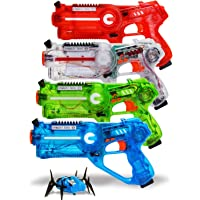 4-Set Dynasty Toys Laser Tag Blasters and 1 Target Robot Bug