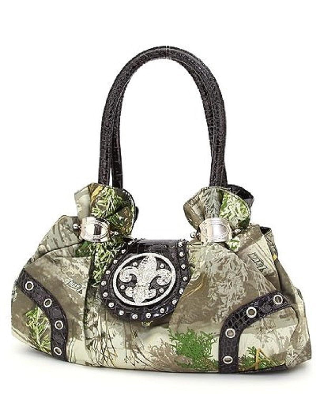 REALTREE MAX1 Camouflage Rhinestone Fleur De Lis Hobo Bag