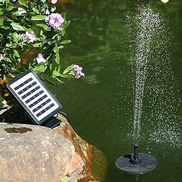 ZLJWRQY Fuente Solar Bomba de Agua Fuente Solar luz LED al Aire Libre Miniatura Jardín Jardín Paisaje Bomba de Agua Flotante Fuente Equipo: Amazon.es: Deportes y aire libre