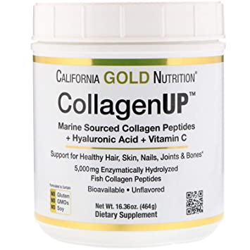 California Gold Nutrition, Collagen UP 5000, Marine-Sourced Collagen Peptides + Hyaluronic Acid