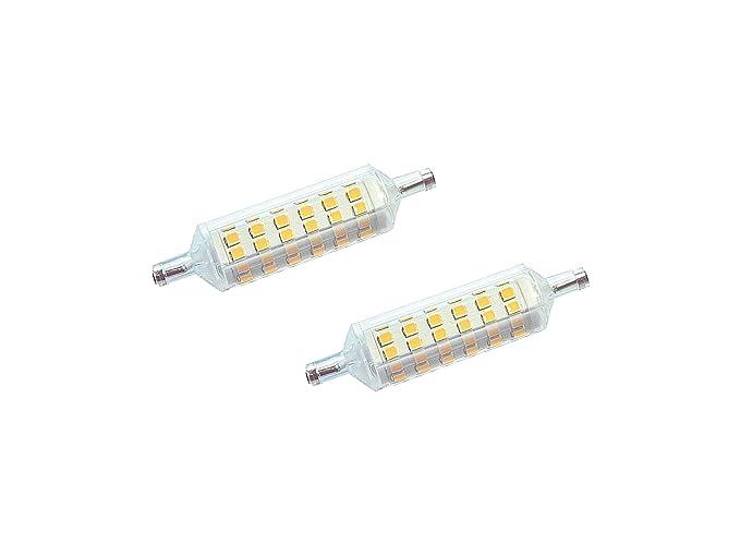 Juego de 2 bombillas LED Dya lineal R7S 7 W – 595 Lúmenes – Luz Natural
