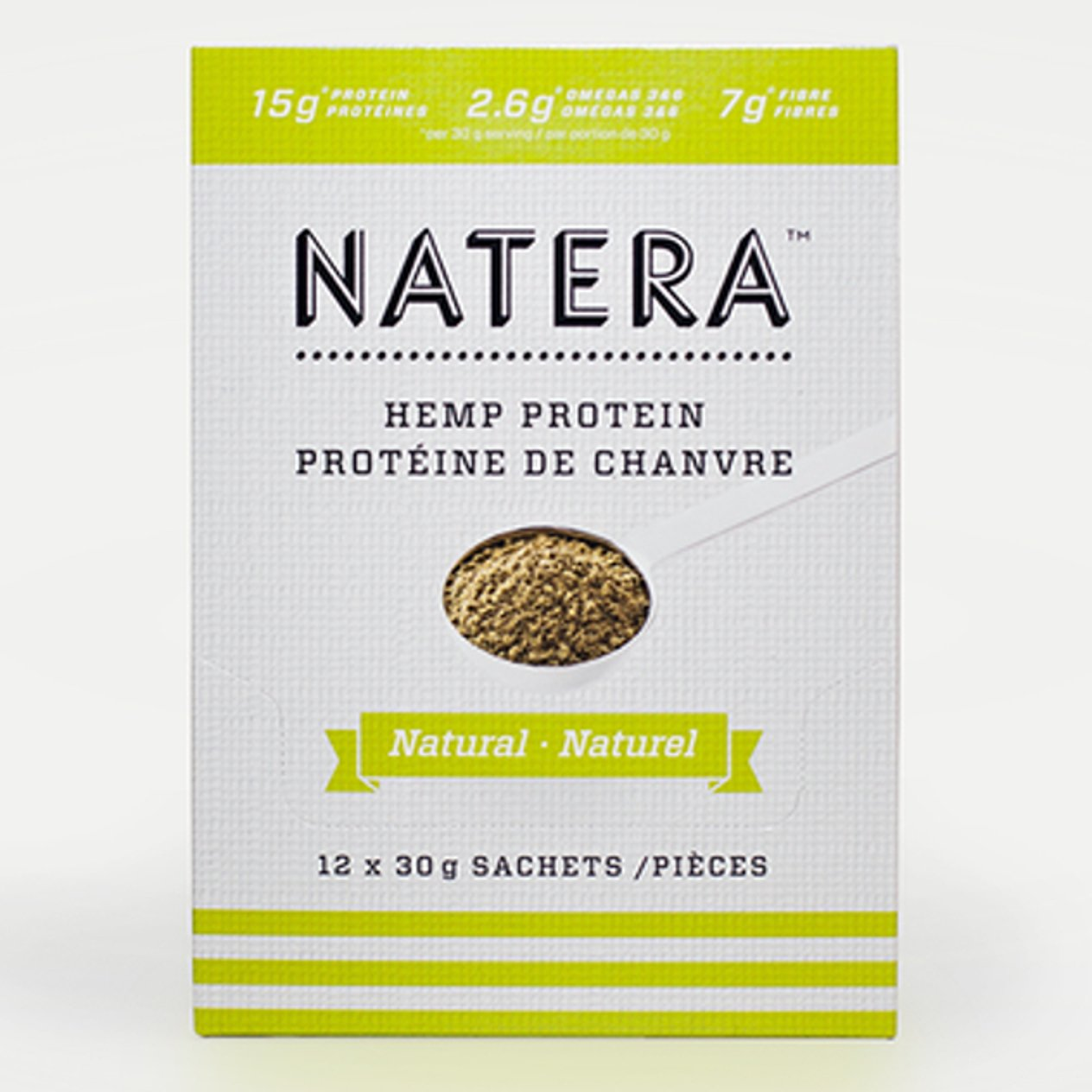 Amazon.com: Top Hemp Protein Powder 12-Snack Pack - NATERA Natural Flavor | Great for Smoothie Shake Protein Drink - Vegan: Health & Personal Care