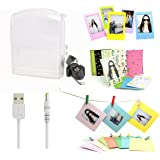 5 in 1 Fujifilm Instax Share SP-1 Smartphone Printer Accessories Bundle(Included: Transparent Instant Film Printer SP-1 Case/ USB Power Cable/ Wall Hang Frame/ 3 inch Film Frame/ Mini Film Stickers)