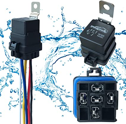 2 Pin Normally Open Car On//Off Automotive Fused Relay 12V 30A Hot UK YhLLw
