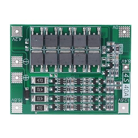 Lhuaguo Balance 4S 40A Li-ion Batería de litio 18650 cargador de tarjeta de protección PCB BMS carga equilibrada para taladro motor 14,8 V 16,8 V Lipo ...
