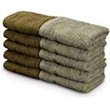 Swiss Republic Face Towels Set- Signature collection 630 GSM with 100% ring spun extra soft cotton with quick dry & double stitch line, Set of 10