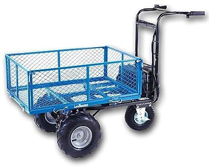 Landworks Utility Cart Hand Truck Power Wagon Super Duty Electric 48V DC  500W AGM Battery 500LBS \u0026 1000LBS+ Load/Hauling Cap Wheelbarrow Barrel Dump
