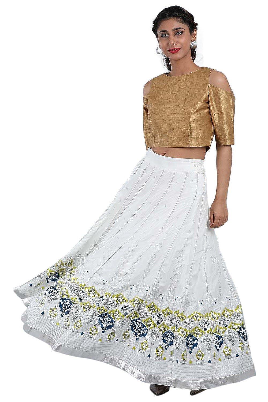 Yellow W for Woman Women's Full Flared Skirt