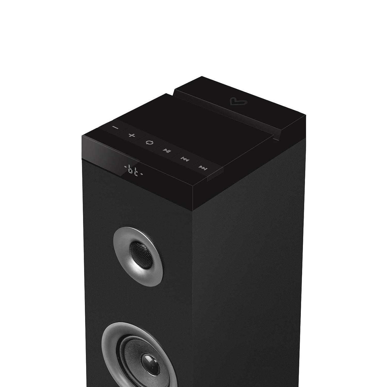 2.1, 45 W, USB, MicroSD, Line-in, RCA y FM Energy Sistem Tower 3 g2 Sistema de Sonido Color Negro