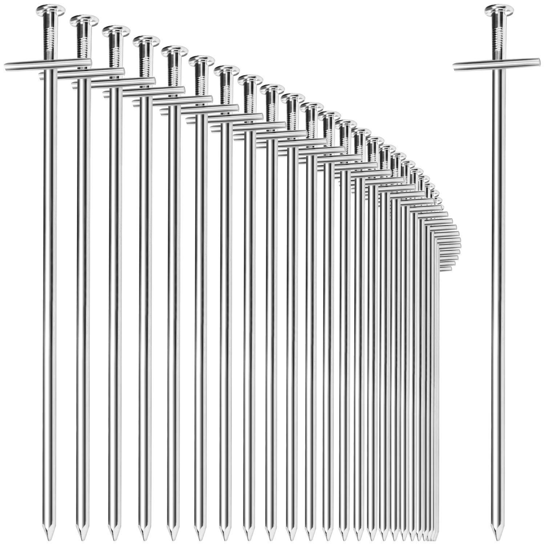 ideal f/ür normalen und harten Boden Lange und robuste Erdn/ägel f/ür Camping und Outdoor com-four/® 15x Zelt-Heringe aus Stahl