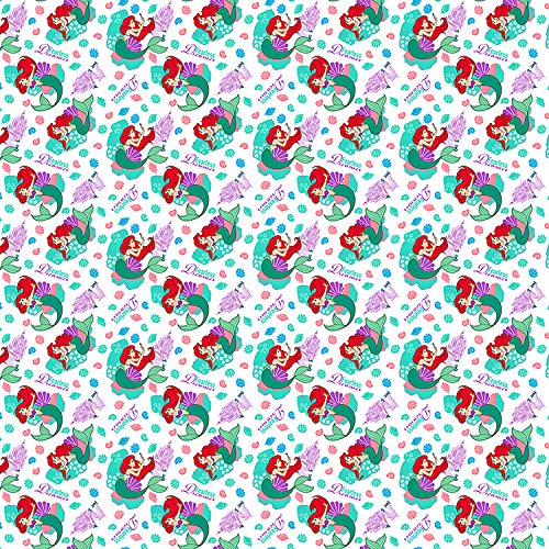 Disney Fabric Fearless Dreamer Ariel Fabric The Little Mermaid KNIT Fabric by the Yard -