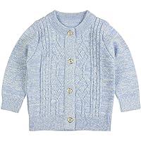 Jersey de Punto de Invierno para bebé, para niños y niñas, cálido, de Manga Larga, Cuello Redondo, suéteres para bebés…