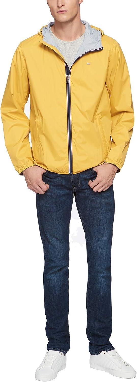 Tommy Hilfiger Herren Active Rain Slicker Jacket With Tricolor Zipper Regenjacke