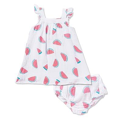Angel Dear Watermelon Muslin Sundress Dress & Diaper Cover