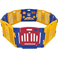 Costway Baby Kids 8 Panel Safety Play Center