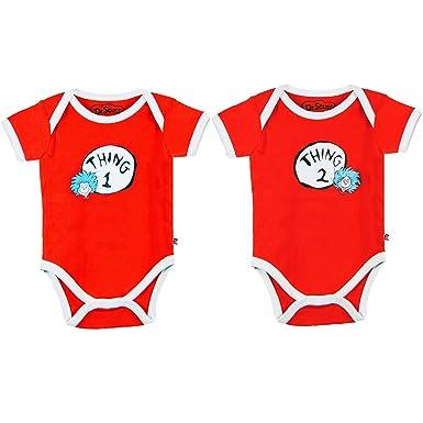 Amazon.com  Bumkins Dr. Seuss Thing 1   2 Infant Bodysuit Combo (9 ... f57706e1c
