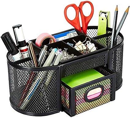 AmazonBasics - Organizador de escritorio, de malla, negro: Amazon ...