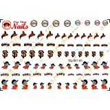San Francisco Giants Clear waterslide nail decals (Nail tattoos) V1. Set of 61.