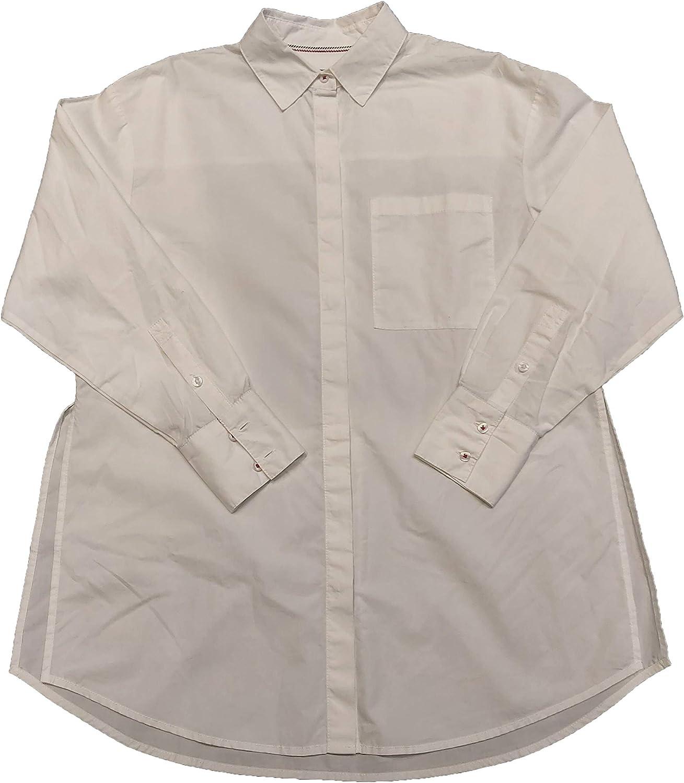 Tommy Hilfiger - Camisa Denim Tjw Solid Oversized Blanca: Amazon.es: Ropa y accesorios