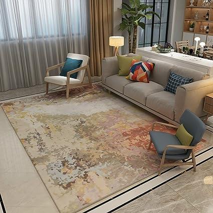 Amazon Wgh48 Minimalist Scandinavian Abstract Ink Art Carpet Best Living Room Brown Couch Minimalist
