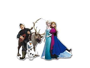 ALMACENESADAN 0885, Pack 4 Siluetas 30 cms Disney Frozen, para Decoracion de Fiestas y cumpleaños