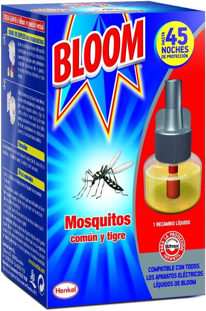 Bloom Recambio Repelente Eléctrico Líquido Contra Mosquitos Común y Tigre