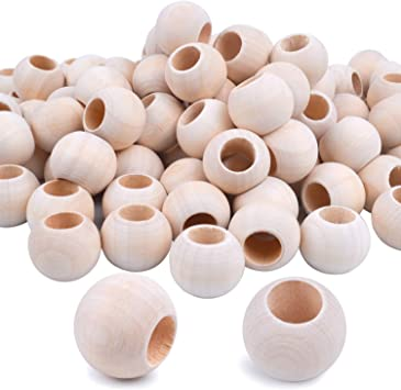 """200 Mixed Color 10mm 3//8/"""" Round Wood Beads~Wooden Beads"""