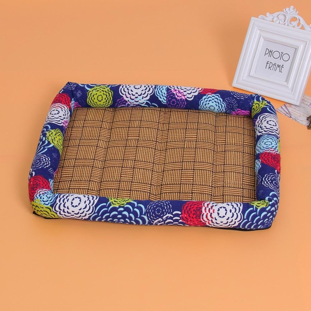B 50x41cmYunYilian Pet Bolster Dog Bed Comfort Washable Kennel Dog mat (color   A, Size   50x41cm)