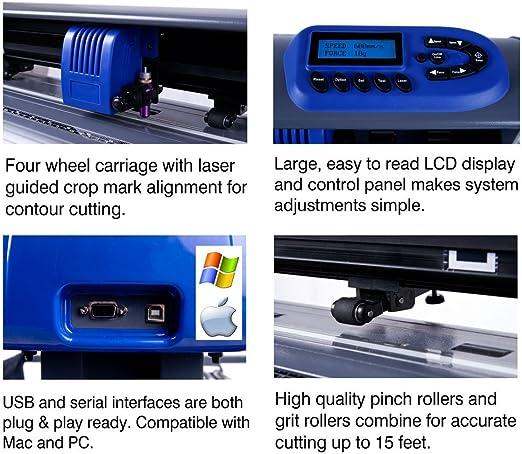 28-inch uscutter Titan cortador de vinilo con soporte, diseño de Plus y corte Software de la Cesta: Amazon.es: Hogar