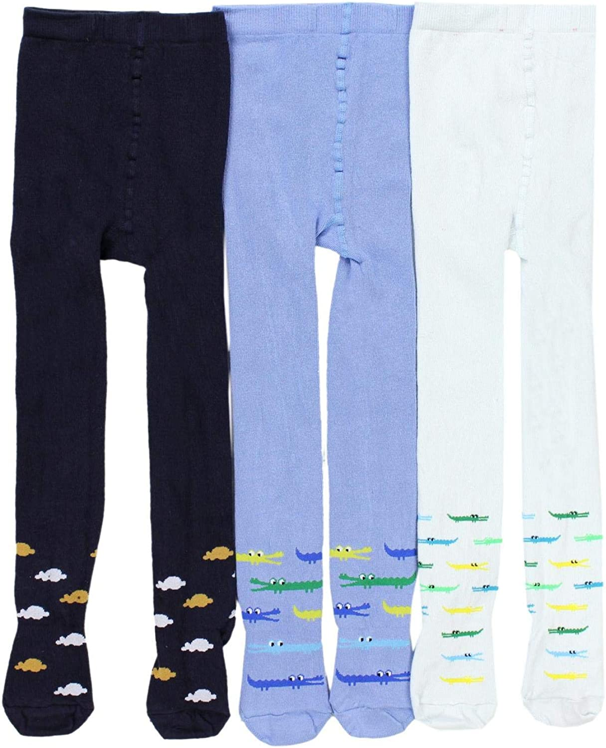 Pack of 6 TupTam Boys Knitted Tights Plain and Printed