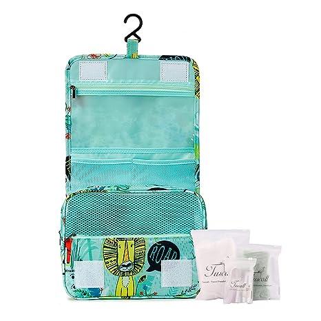 Tuscall Bolsas de Aseo Cosméticos Neceser de Viaje para Colgar Impermeable  Organizador Accesorios de Baño con a6b1d85f1782