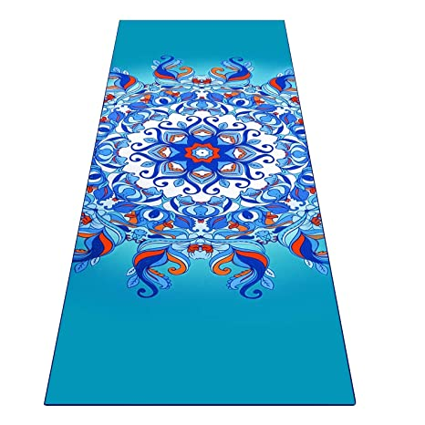 905a6c002af Amazon.com : Heathyoga Yoga Towel, Exclusive Corner Pockets Design + Free  Spray Bottle, 100% Microfiber Yoga Mat Towel for Hot Yoga, Pilates and  Fitness ...