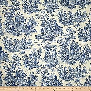 Amazon Com Waverly Charmed Life Toile Cornflower Fabric