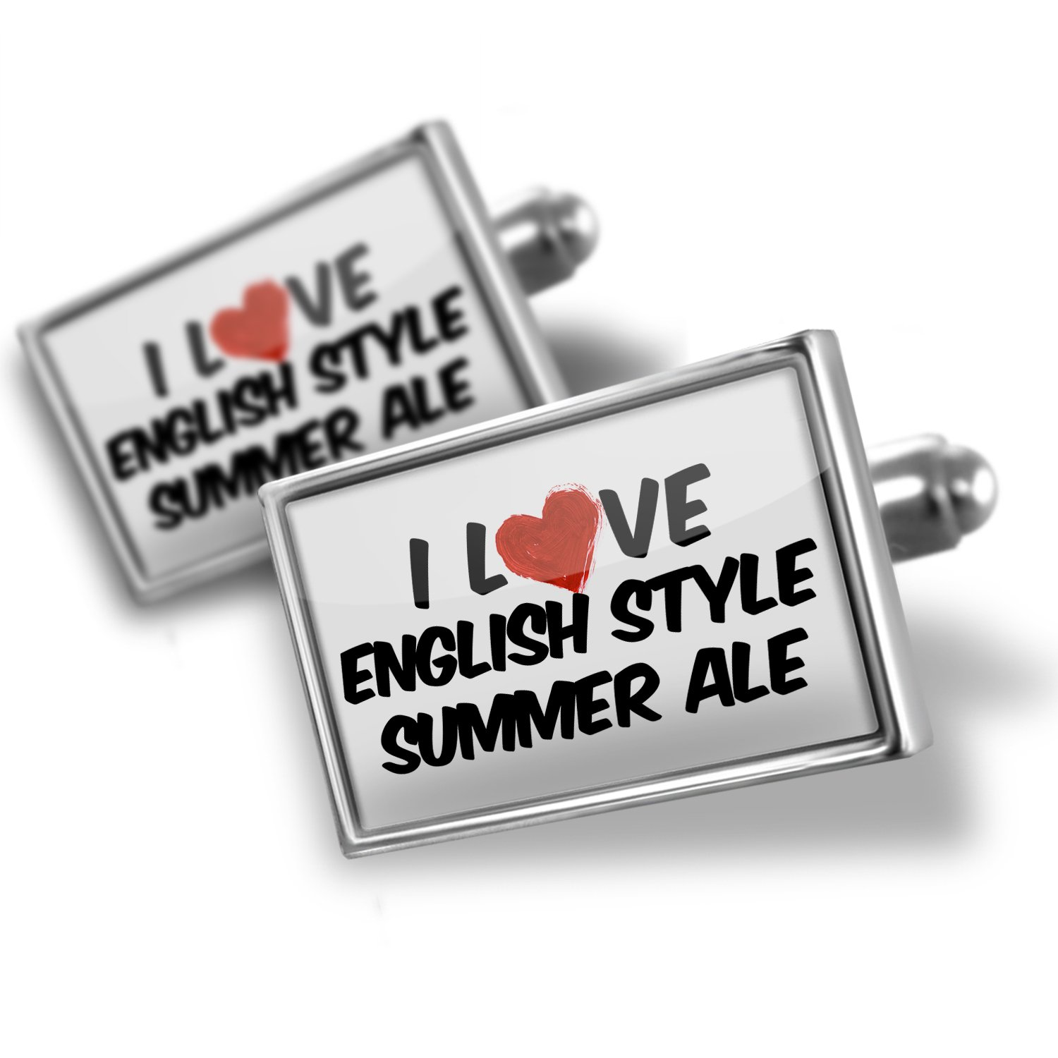 Cufflinks I Love English Style Summer Ale Beer - Neonblond
