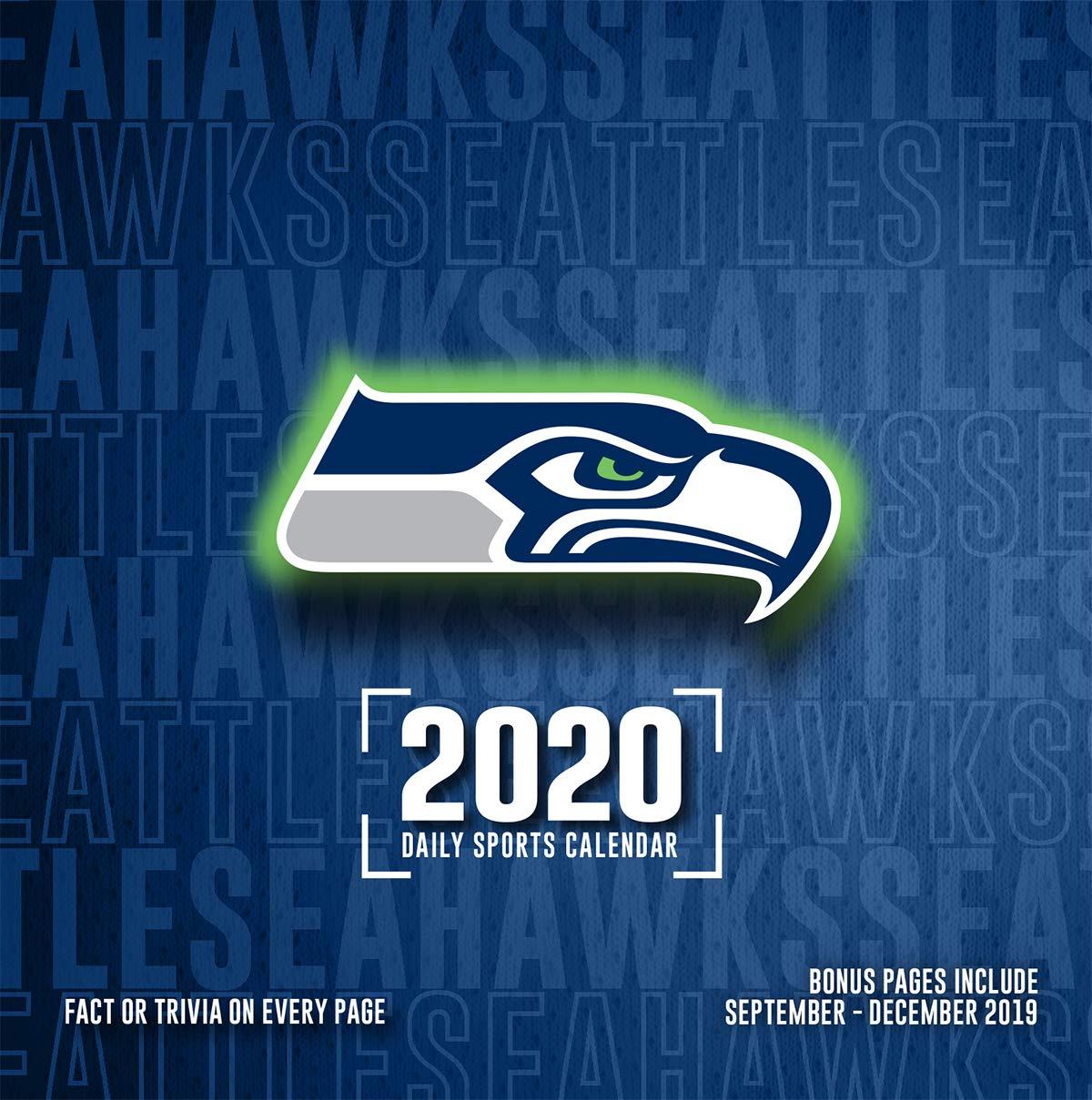 Seattle Seahawks Schedule 2020.Amazon Com 2020 Seattle Seahawks Desk Calendar By Turner