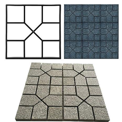 EBTOOLS Molde de pavimento, Molde de plástico para hormigón, Escalada, Piedra, jardín