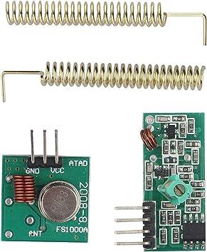 433Mhz RF Wireless Transmitter /& Receiver Link Kit Module for Arduino UNO R3