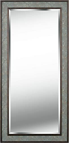 Kenroy Home 60455SLBN Saundra Mirrors, Large, Slate and Antique Brown Finish
