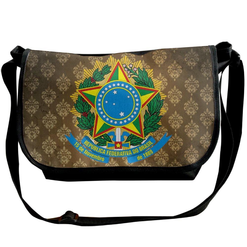 Lov6eoorheeb Unisex Coat Of Arms Of Brazil Wide Diagonal Shoulder Bag Adjustable Shoulder Tote Bag Single Shoulder Backpack For Work,School,Daily