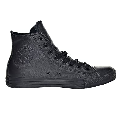 Converse Hi Top Leather Black Mono 3 5