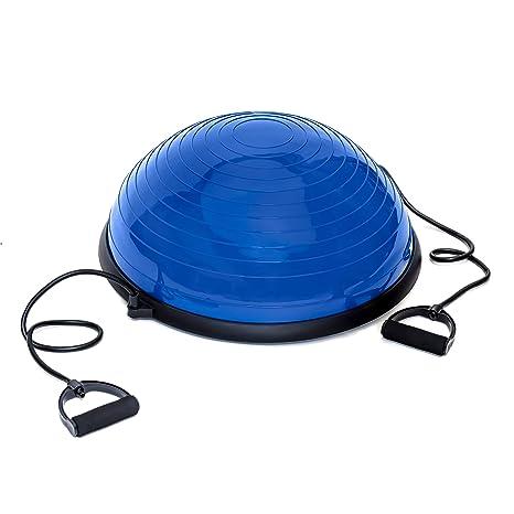 TechFit Bola de Equilibrio, Media Pelota Fitness ø60 cm con Asas ...