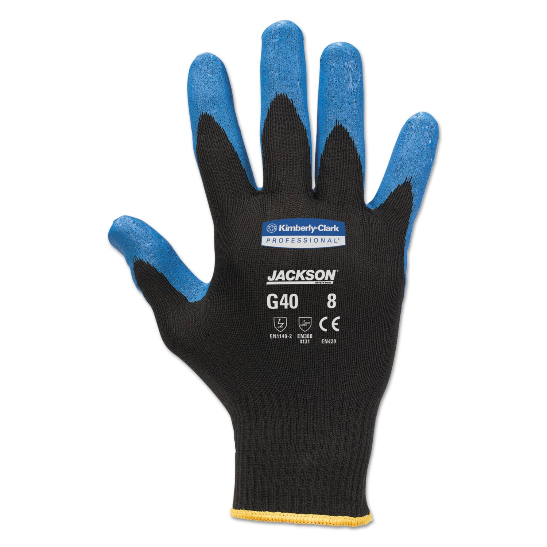 Kimberly Clark KleenGuard Purple Nitrile Foam Coated Gloves L Size 9 12 Pairs