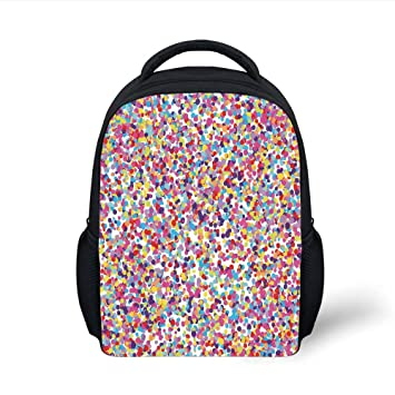 76a69a7bc53d Amazon.com: iPrint Kids School Backpack Fiesta,Round Rainbow Colored ...