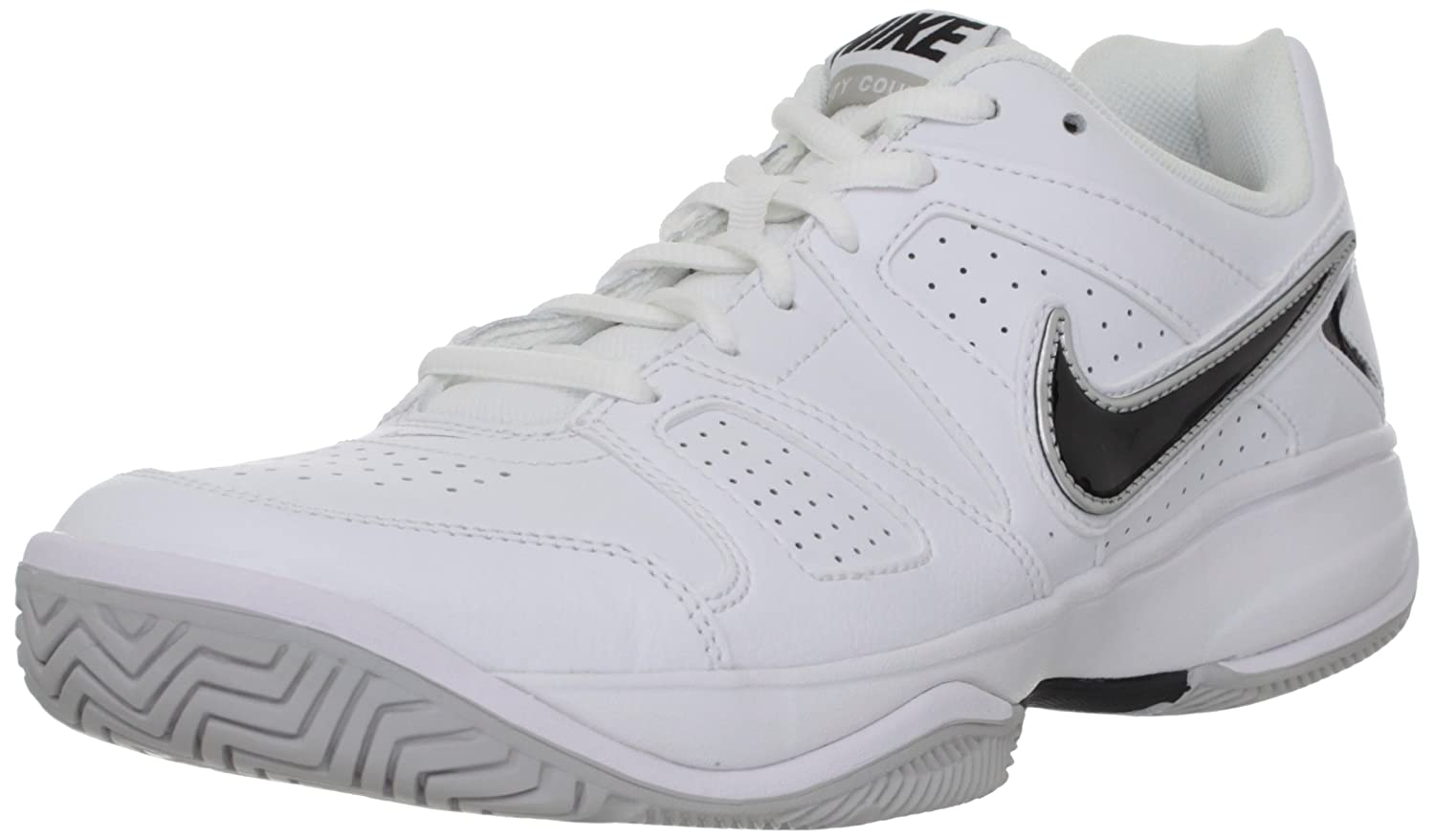 timeless design aae08 2c7a8 Amazon.com   Nike City Court VII Men s Tennis ShoesWhite Neutral  Grey Metallic Silver Black 8 D - Medium   Tennis   Racquet Sports
