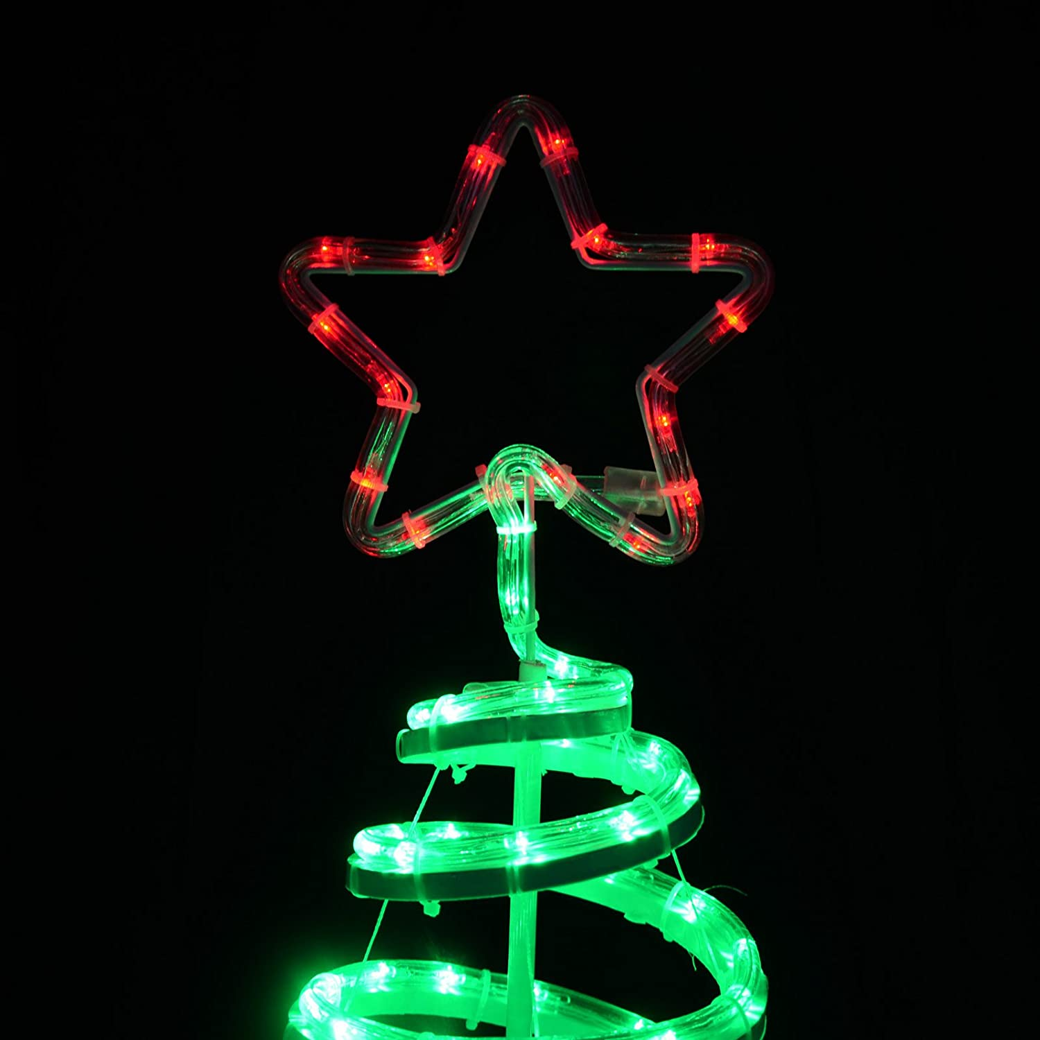 Green spiral tree star led rope light 120cm christmas decoration green spiral tree star led rope light 120cm christmas decoration indooroutdoor amazon kitchen home aloadofball Gallery