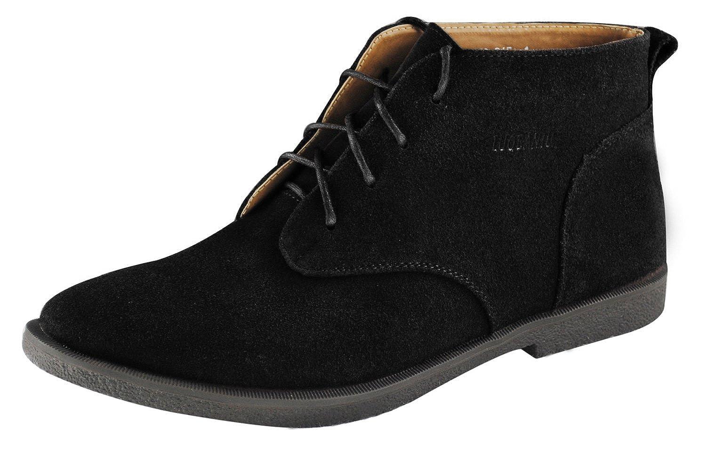 4How Men's Desert Boot Chukka Boots Laces Black
