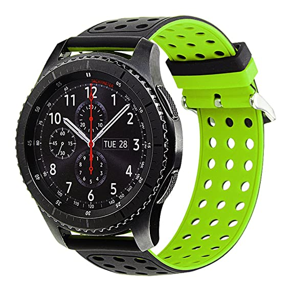 online store f726f 1dfe1 Gear S3 Bands Silicone, Maxjoy S3 Classic Frontier Watch Band Galaxy Watch  46mm Strap 22mm Soft Rubber Large Small Sport Replacement Wristband with ...