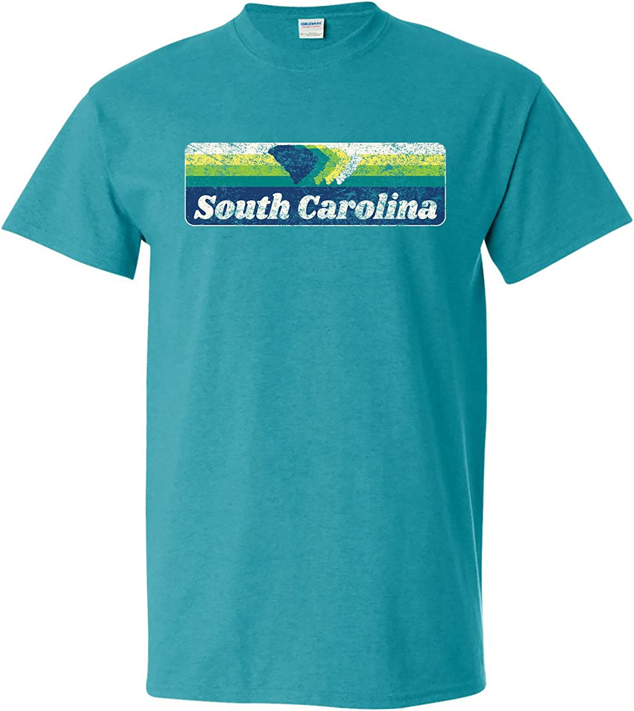 Retro Rainbow States Vintage 70s Style Print Home State T-Shirt