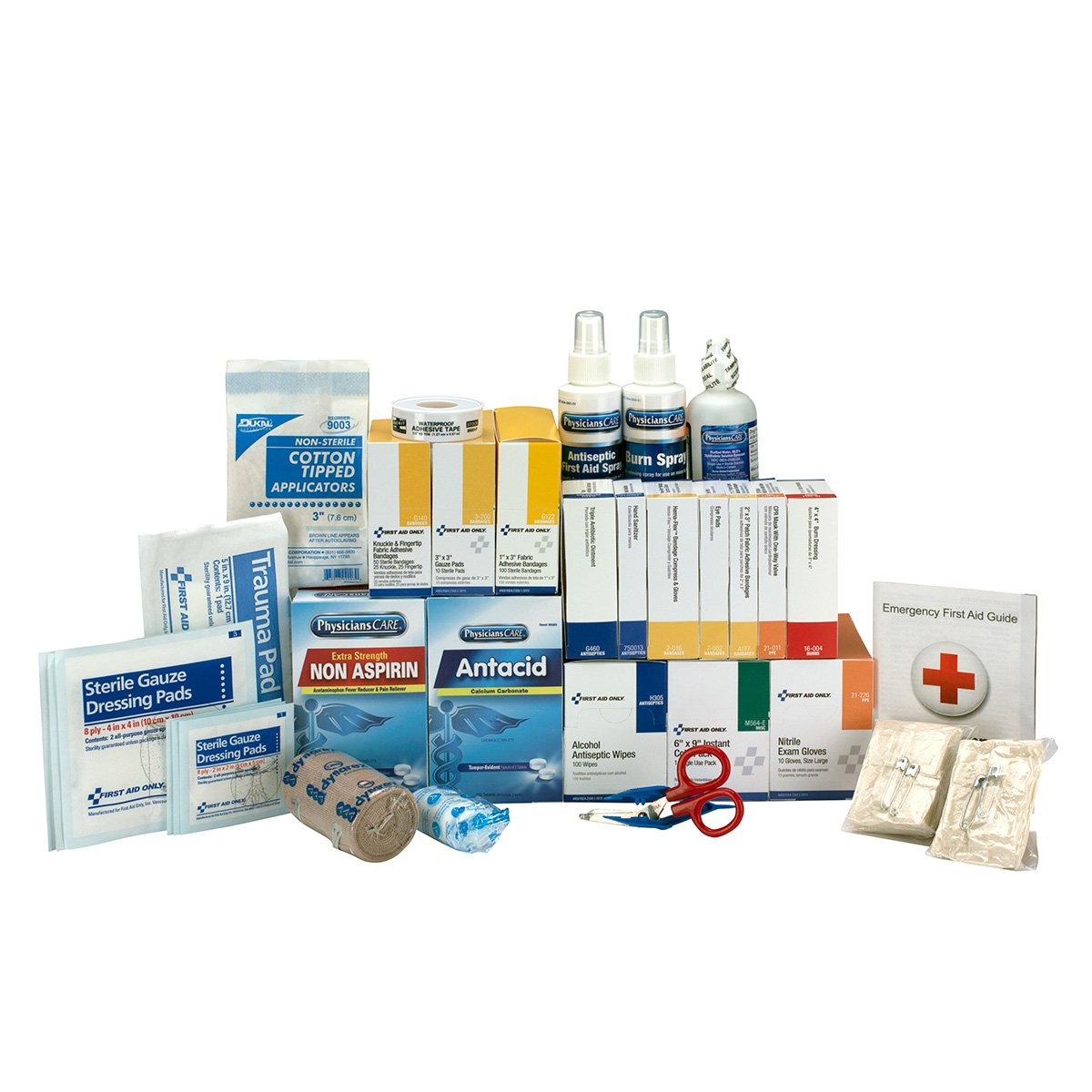 Pac-Kit by First Aid Only 90620 3 Shelf ANSI A+, First Aid Kit Refill, with Meds